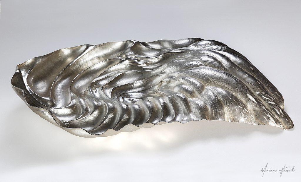 Undulations Centrepiece, Fine silver, 68 x 39 x 12cm